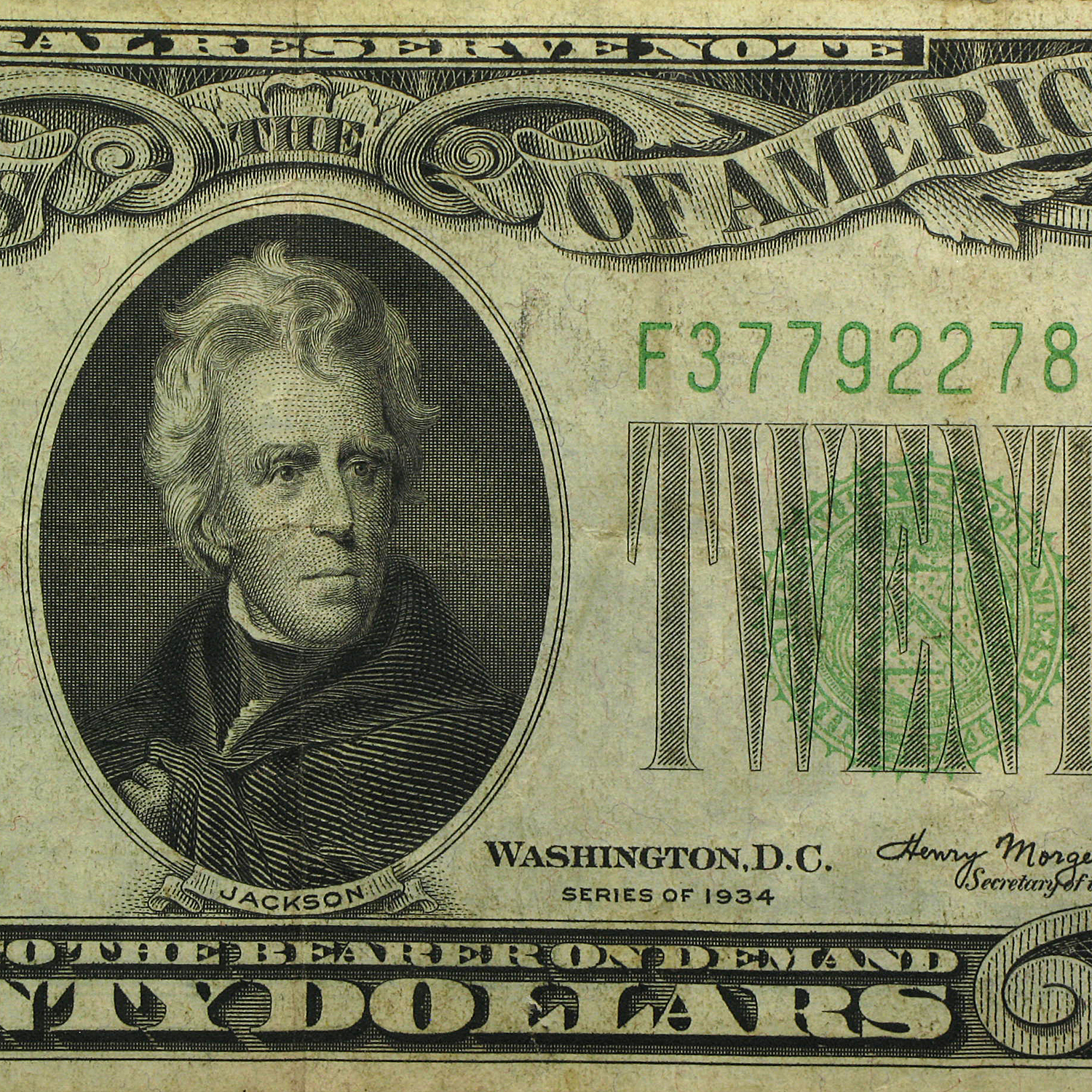 1934 (F-Atlanta) $20 FRN VF