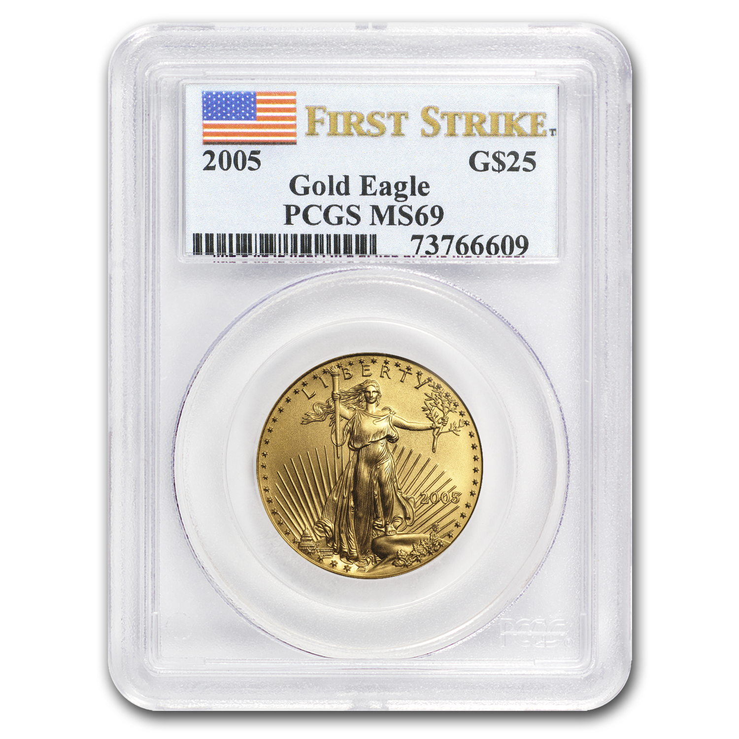 2005 1/2 oz Gold American Eagle MS-69 PCGS (FS)