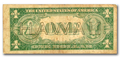 1935-A $1.00 Brown Seal (HAWAII) (Good)