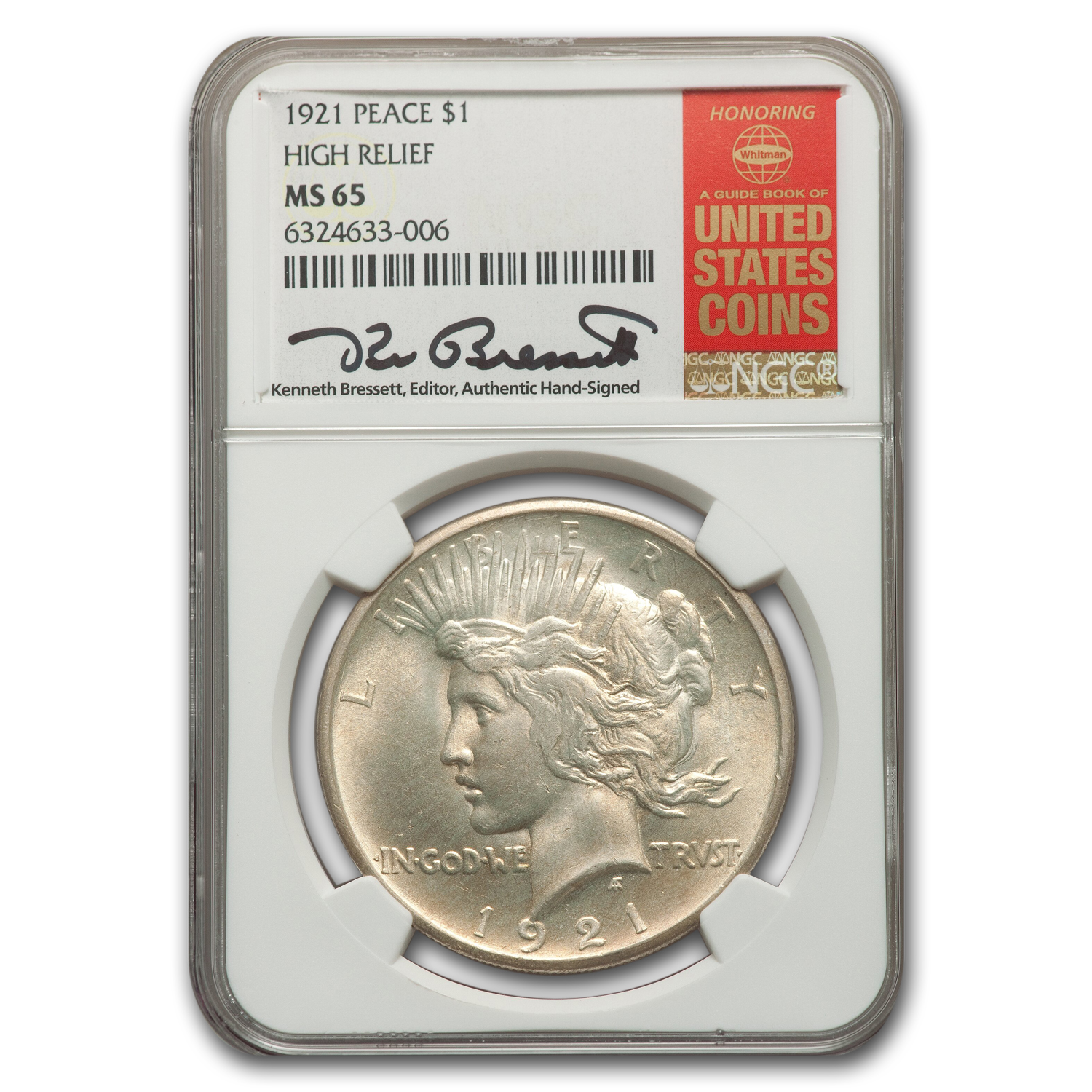 1921 Peace Dollar MS-65 NGC