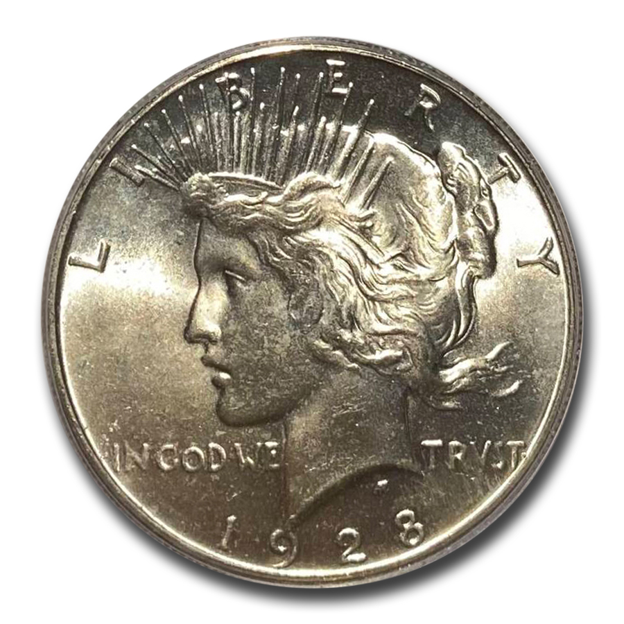 1928 Peace Dollar MS-64 PCGS (Key Date)