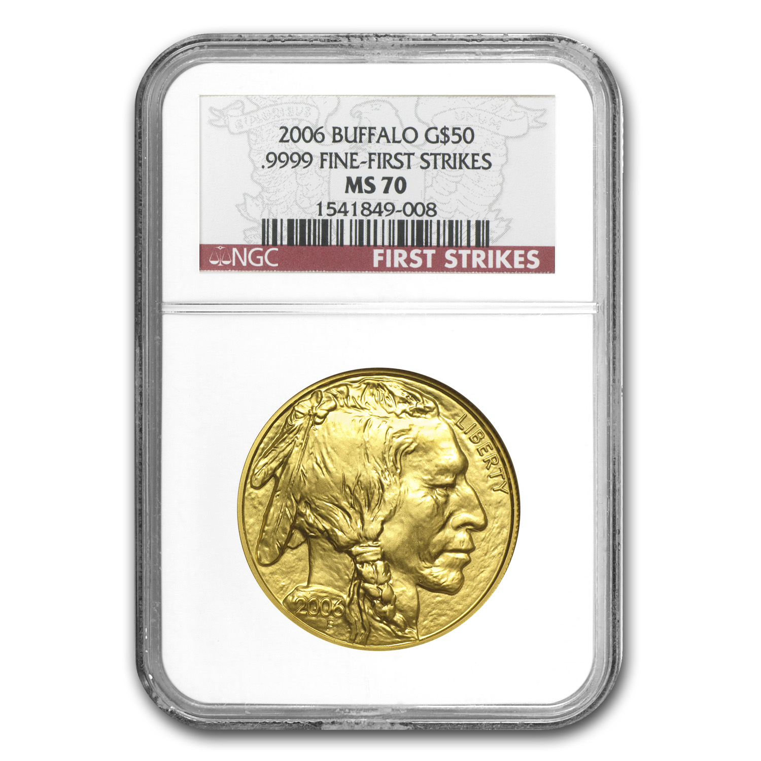 2006 1 oz Gold Buffalo MS-70 NGC (First Strikes)