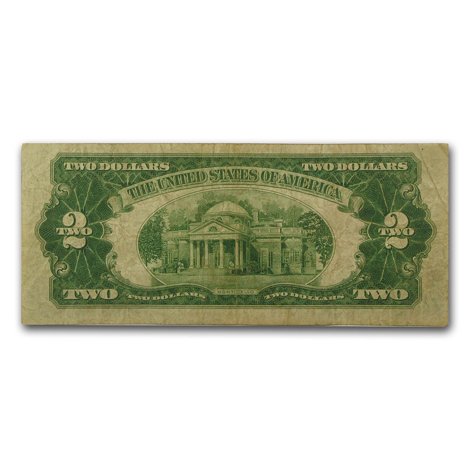 1928-B $2.00 U.S. Note Red Seal Fine
