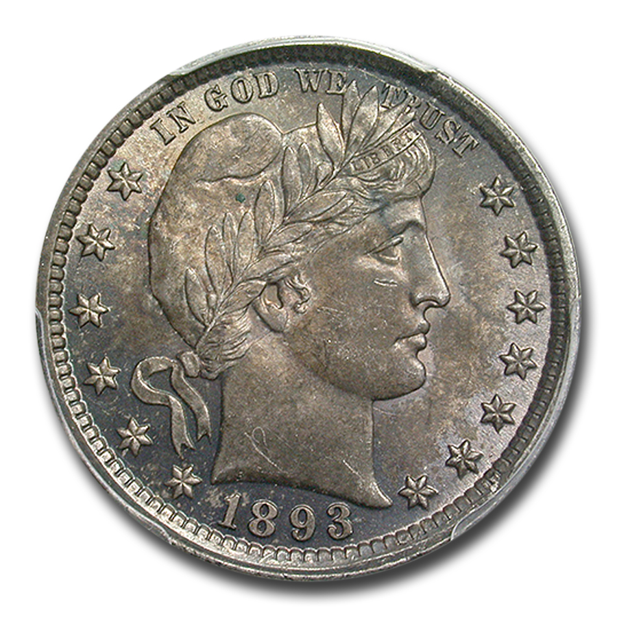 1893 Barber Quarter MS-64 PCGS