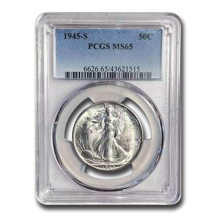 1945-S Walking Liberty Half Dollar MS-65 PCGS