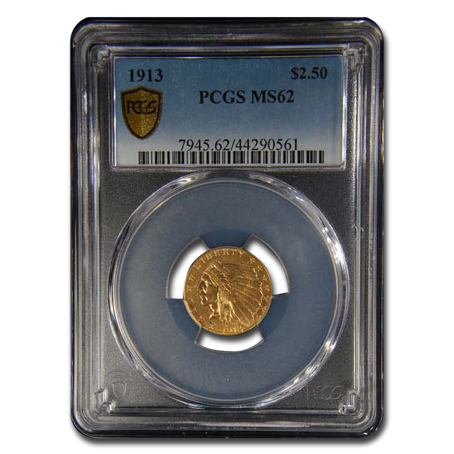 1913 $2.50 Indian Gold Quarter Eagle MS-62 PCGS
