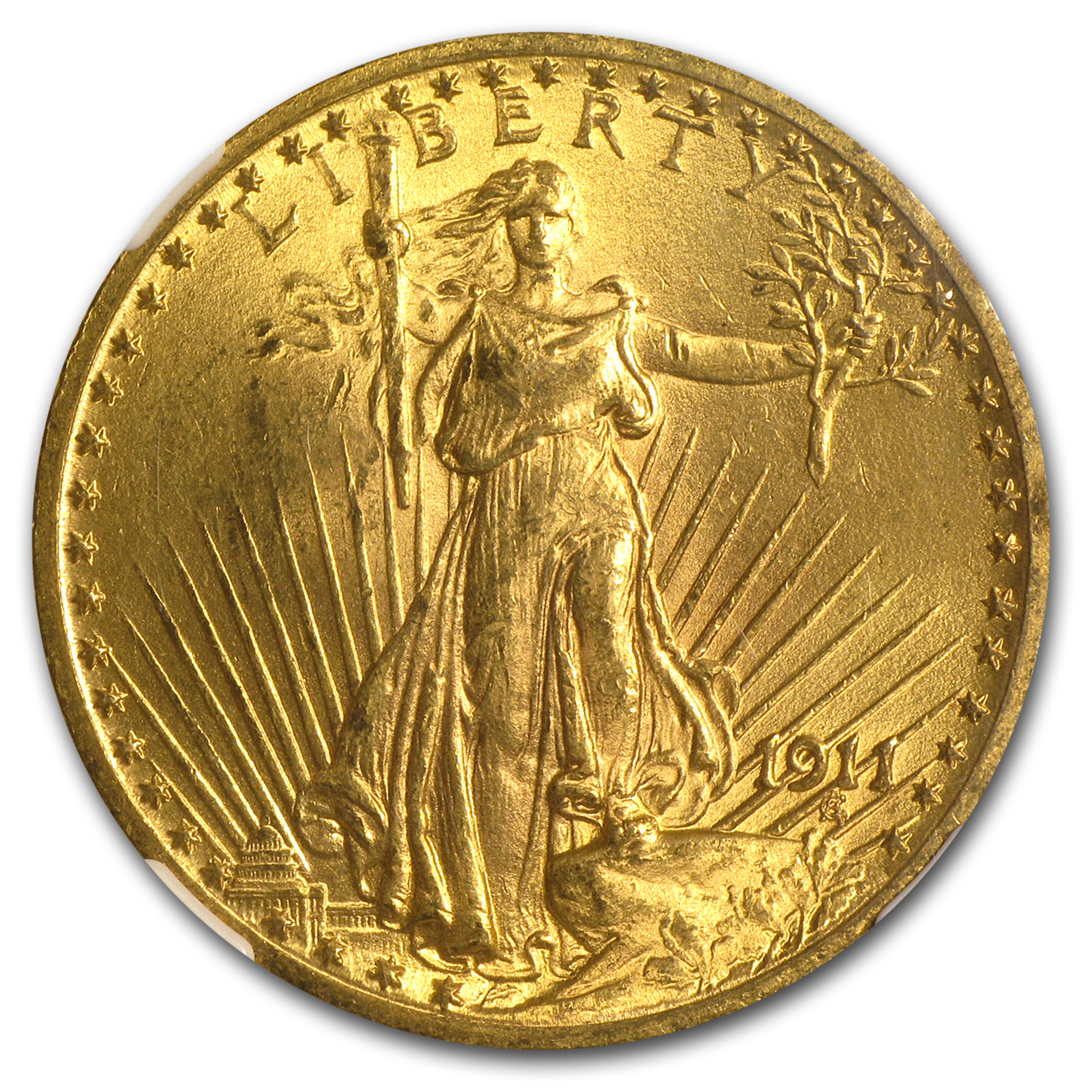 1911 $20 St. Gaudens Gold Double Eagle MS-63 NGC