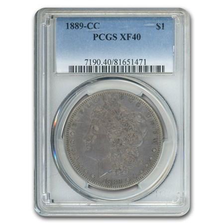 1889 Cc Morgan Dollar Xf 40 Pcgs Value Of Silver