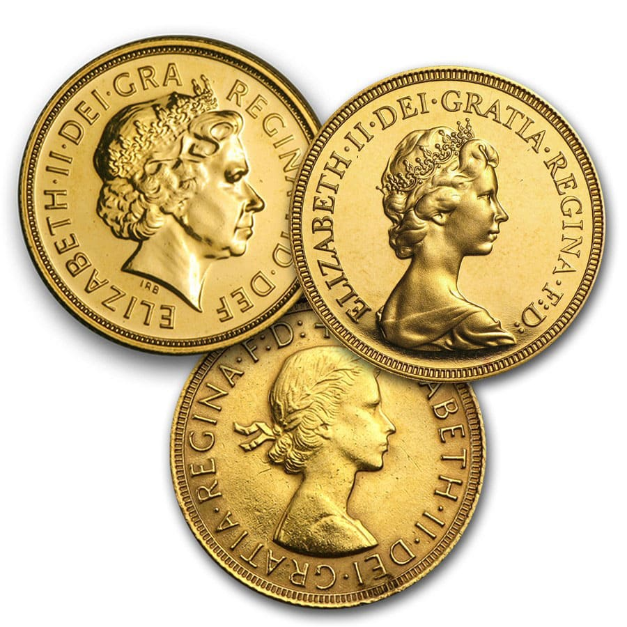 British Gold Sovereigns (Average Circulated)