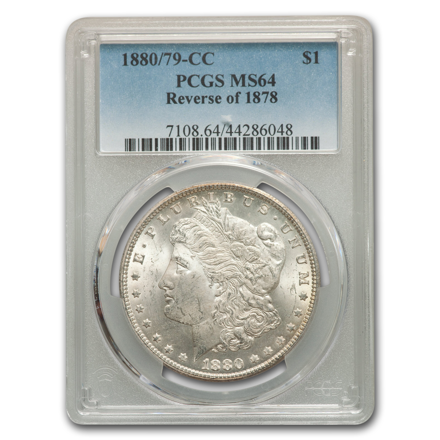 1880/79-CC Morgan Dollar Rev of 78 MS-64 PCGS