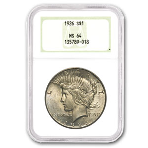 1926 Peace Dollar MS-64 NGC