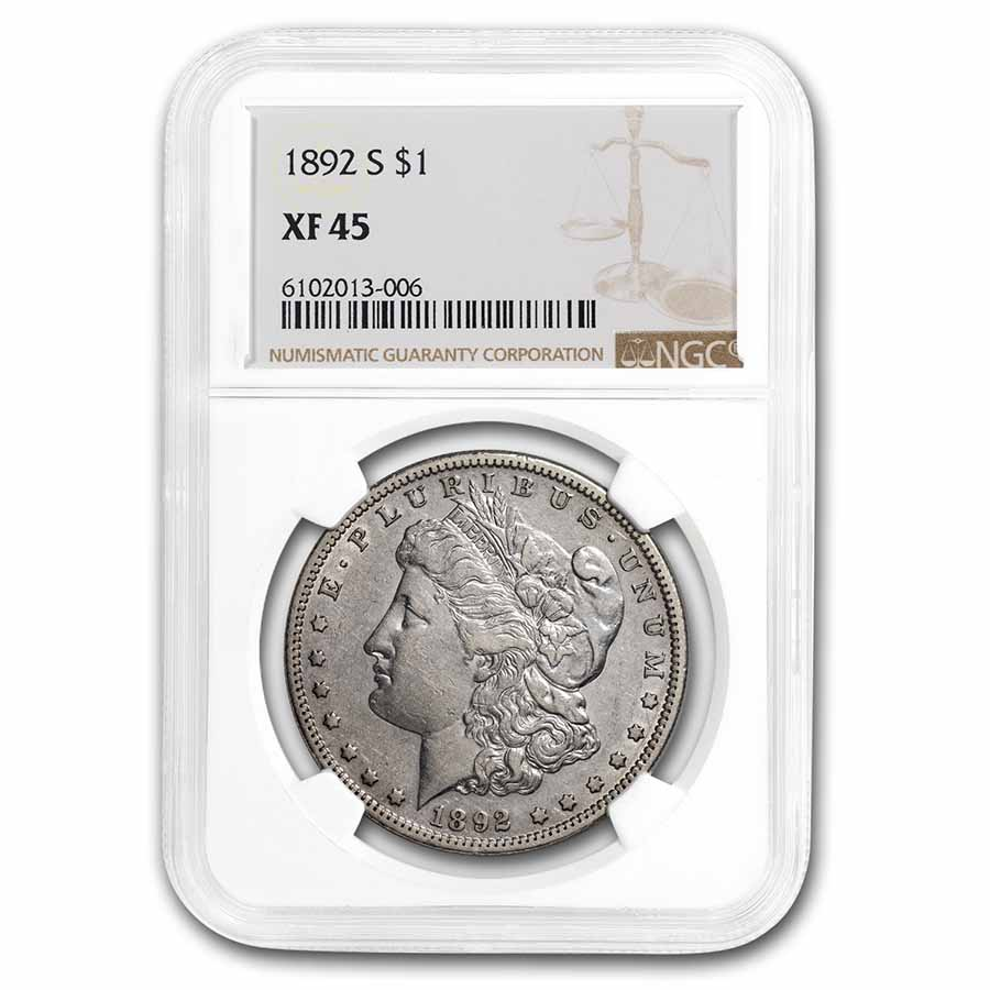 1892-S Morgan Dollar XF-45 NGC