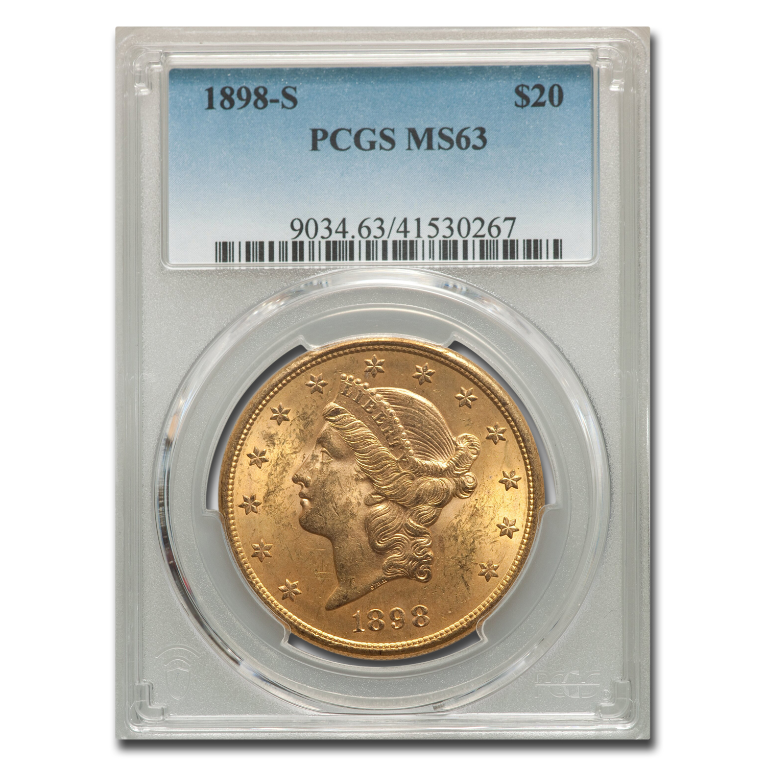 1898-S $20 Liberty Gold Double Eagle MS-63 PCGS
