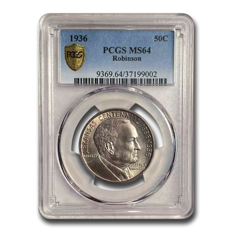 1936 Robinson-Arkansas Half Dollar MS-64 PCGS