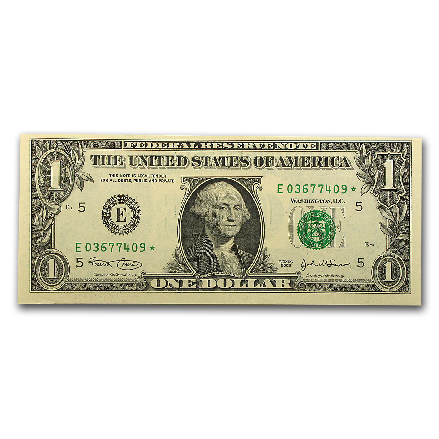2003 (E-Richmond) $1.00 FRN CU (STAR NOTE)