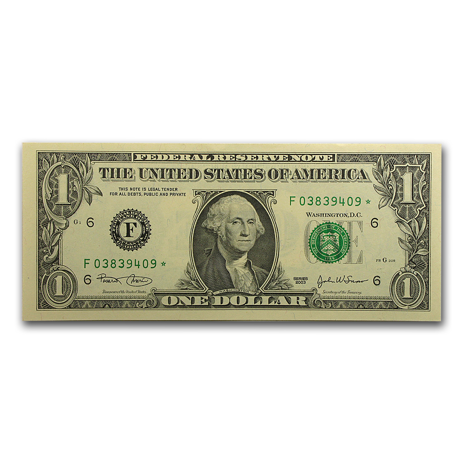 2003 (F-Atlanta) $1.00 FRN CU (Star Note)