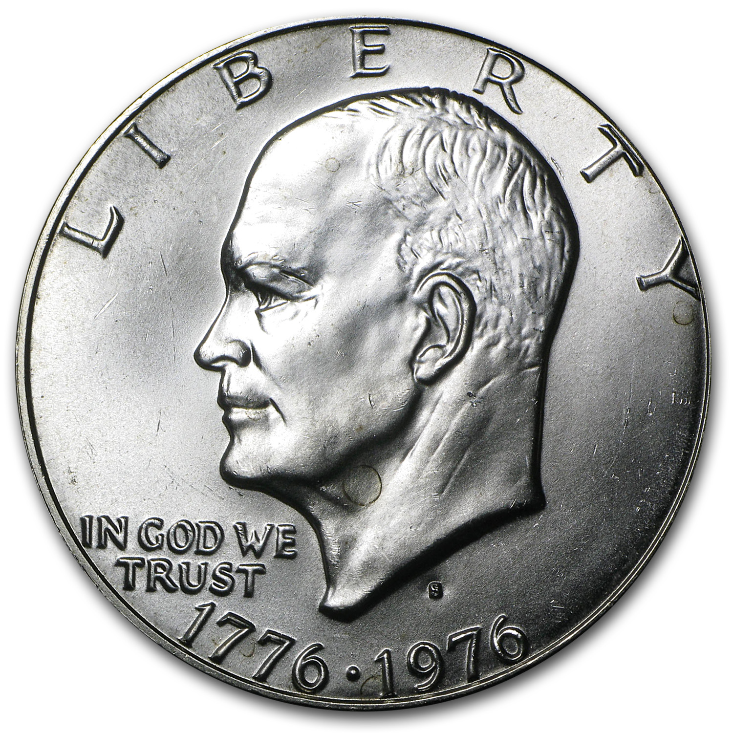 1976 S 40 Silver Eisenhower Dollar Bu Type 1