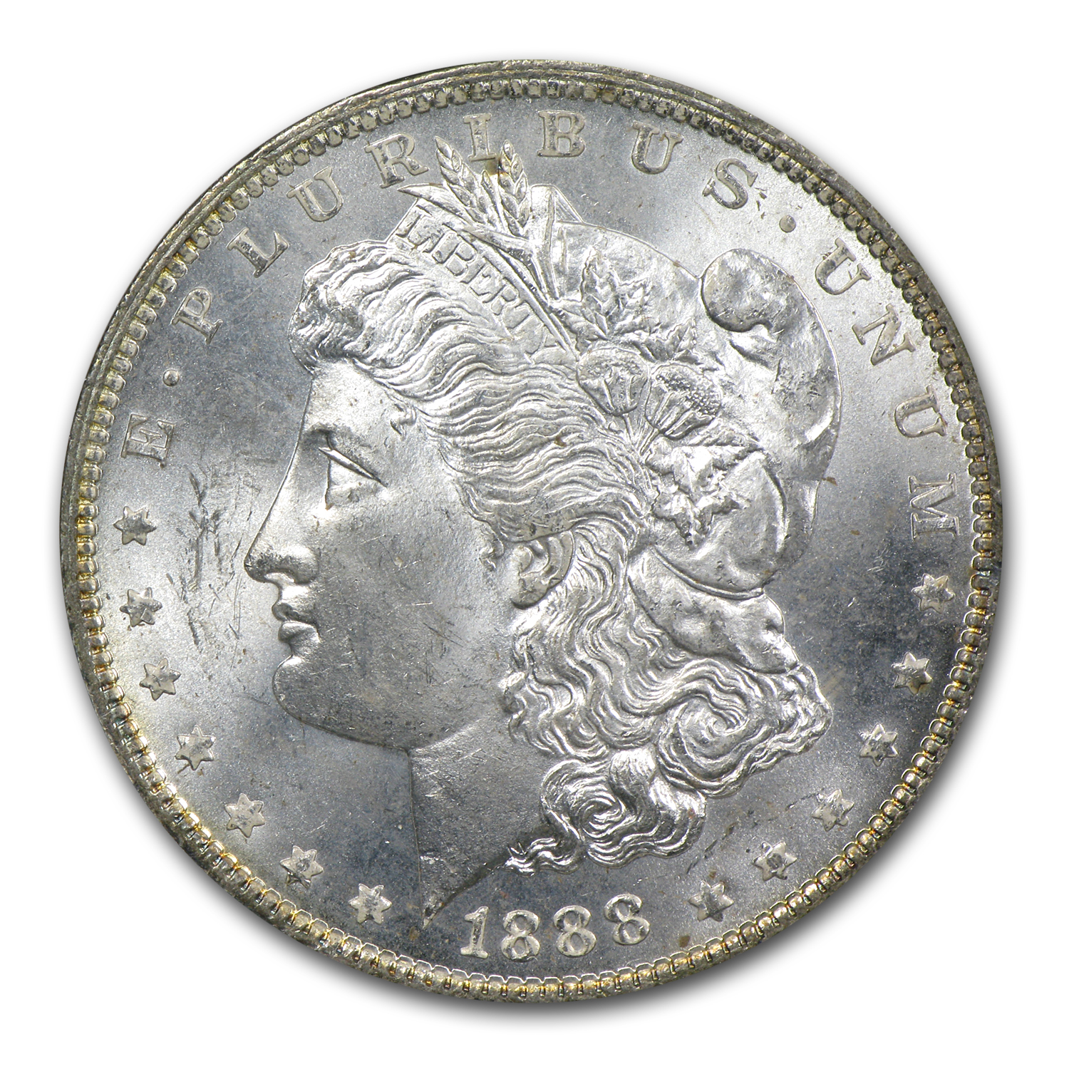 1878-1904 Morgan Dollars - MS-63 NGC - Toned Obverse/Reverse