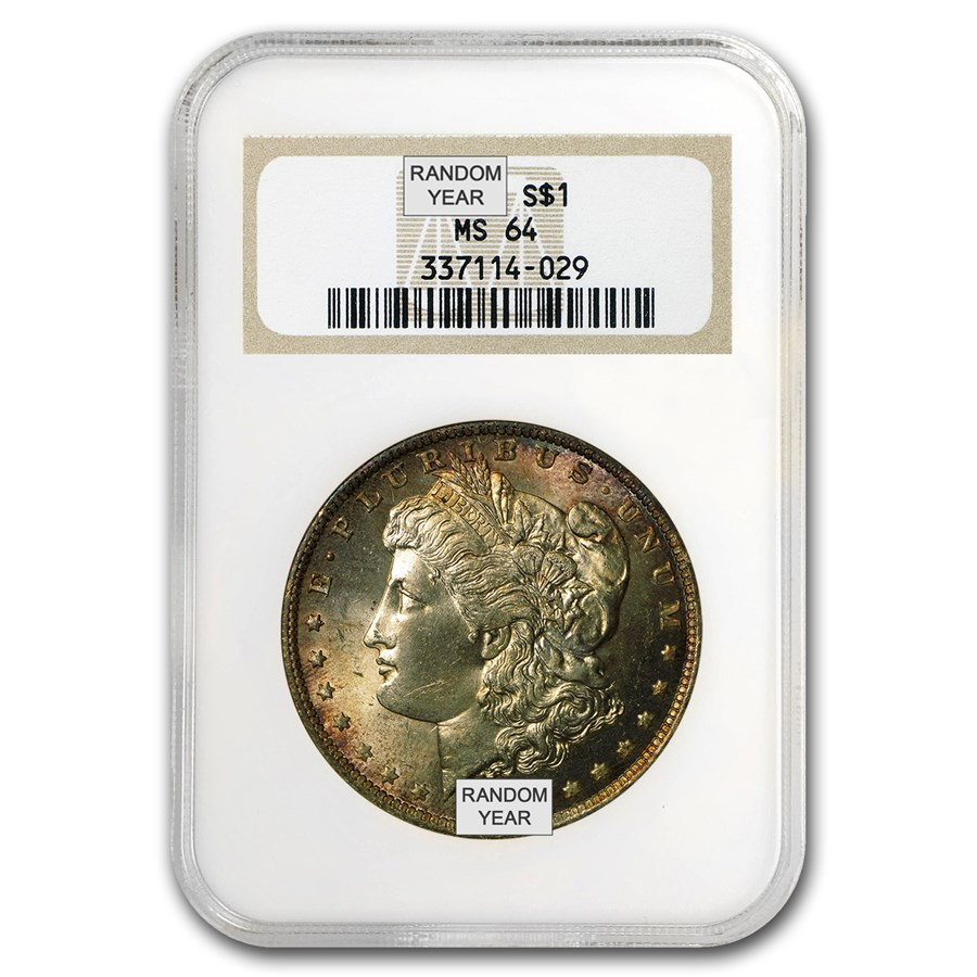 1878-1904 Morgan Dollars MS-64 NGC (Toned Obv/Rev or Both)