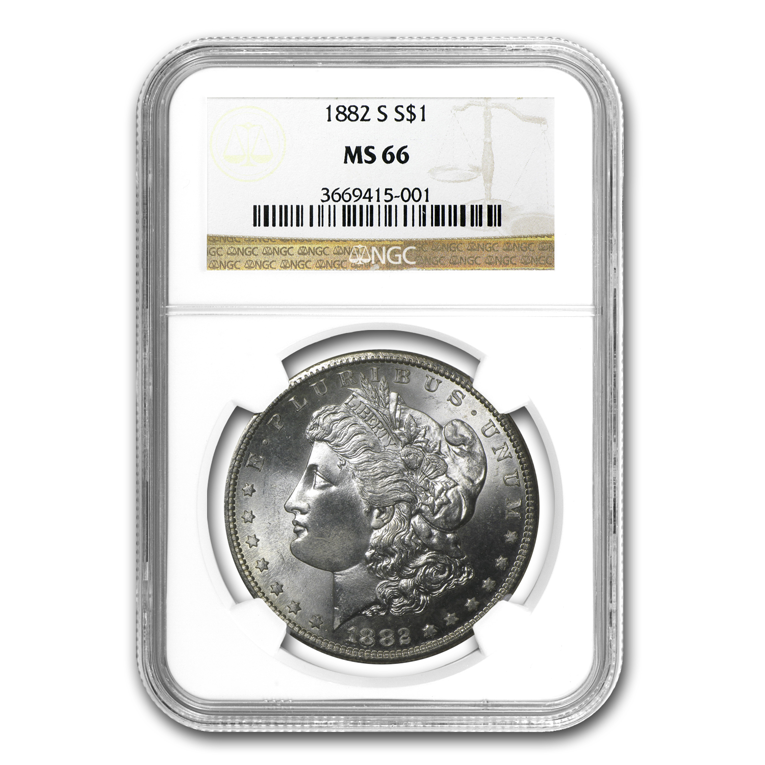 1882-S Morgan Dollar MS-66 NGC