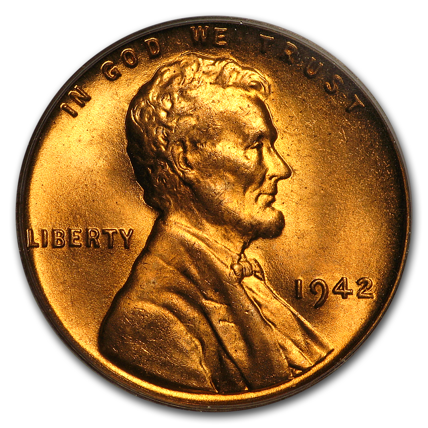 1942 Lincoln Cent MS-66 PCGS (Red)