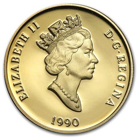 1990 Canada 1 4 Oz Proof Gold 100 International Literacy