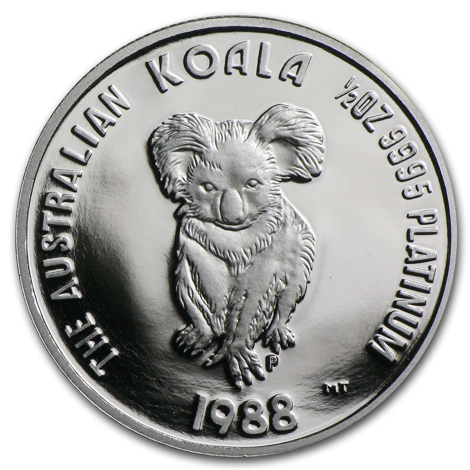 1988 Australia 1/2 oz Proof Platinum Koala