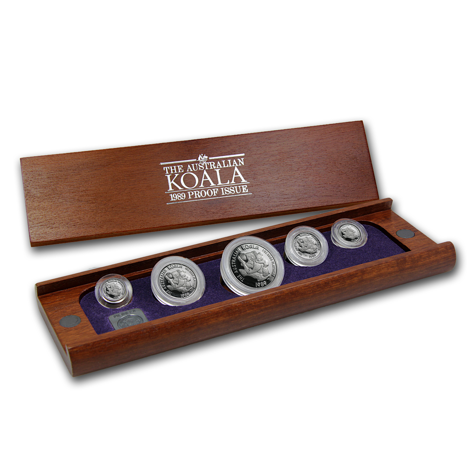 1989 Australia 5-Coin Platinum Koala Proof Set (1.9 oz)