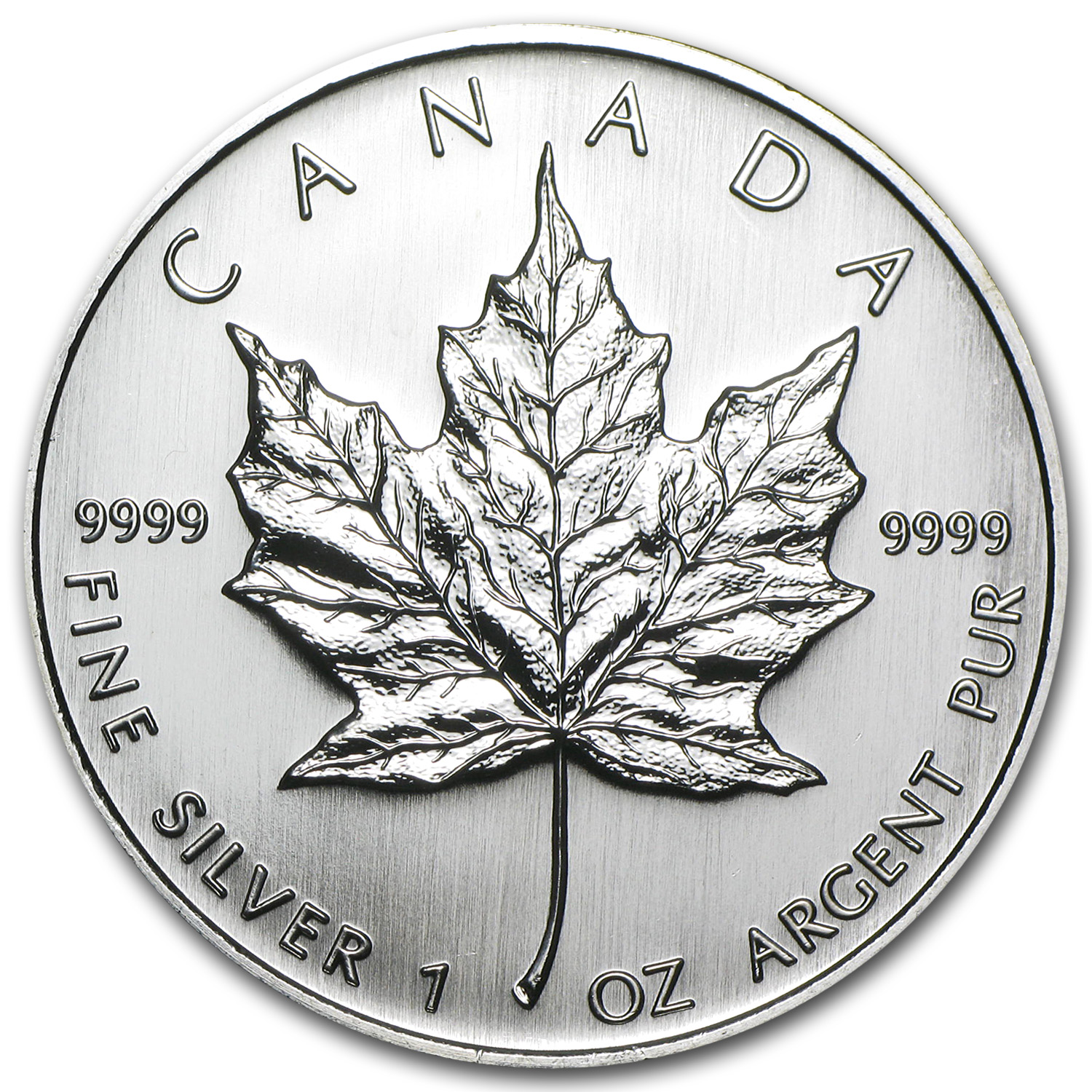 2007 1 oz Silver Canadian Maple Leaf BU