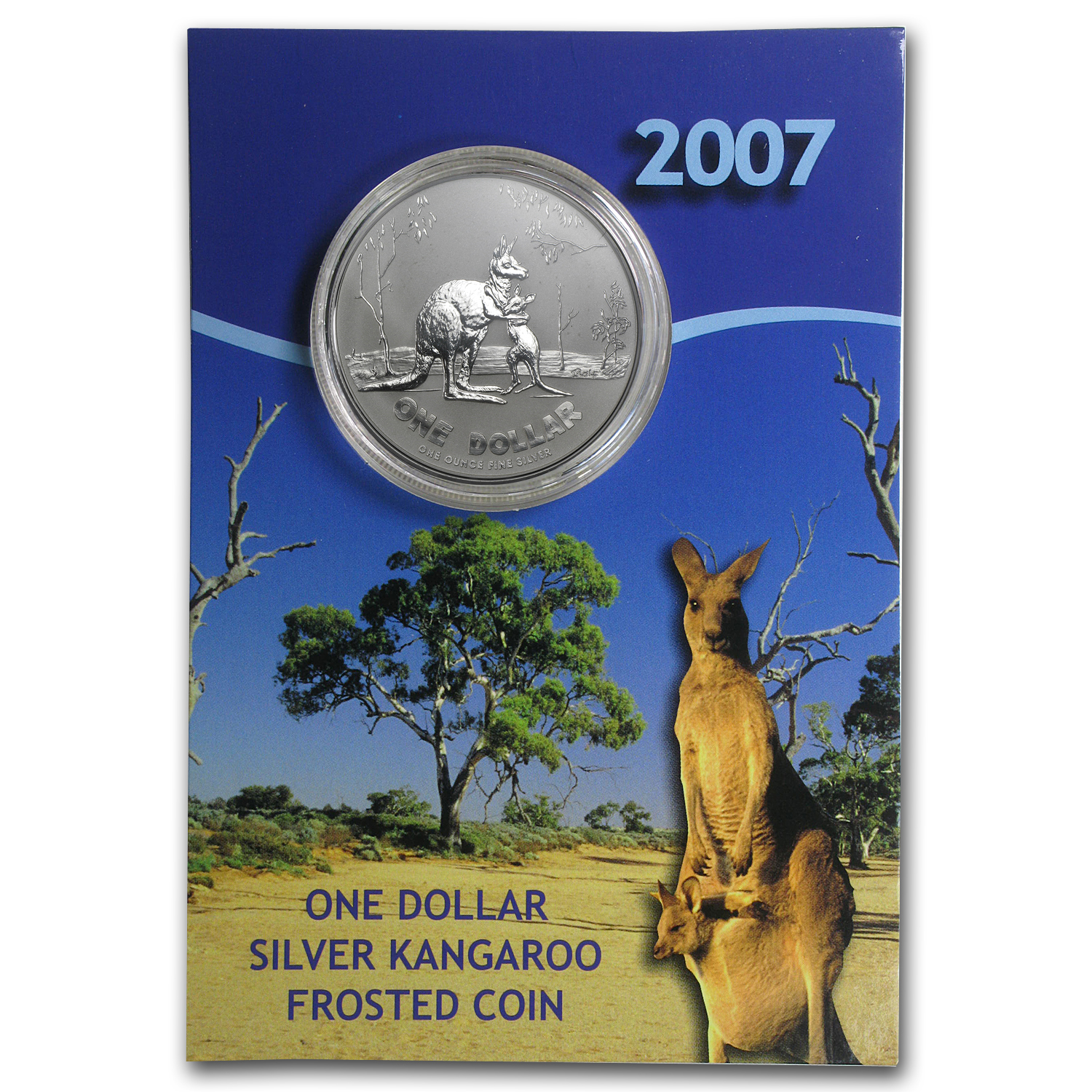 2007 Australia 1 oz Silver Kangaroo (In Display Card)