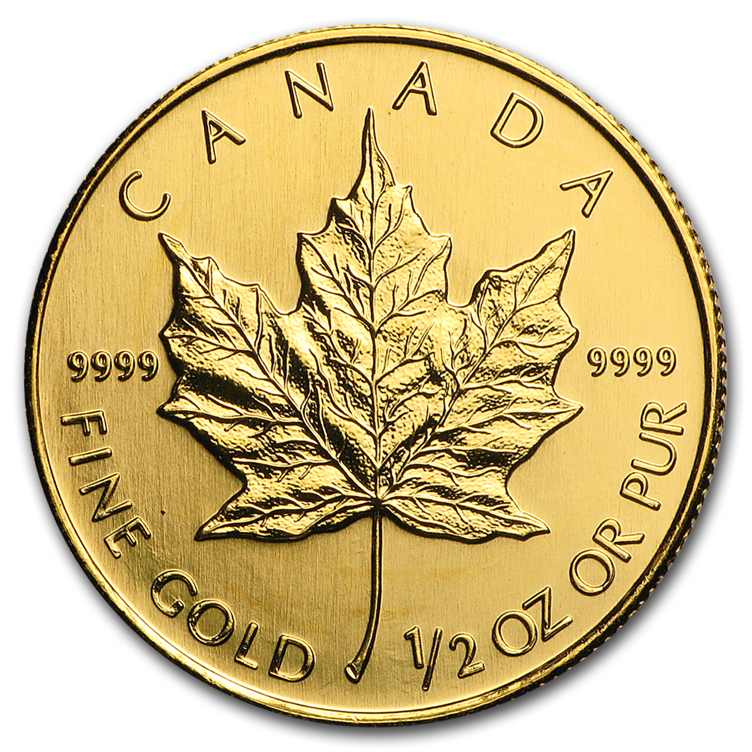 2007 Canada 1/2 oz Gold Maple Leaf BU