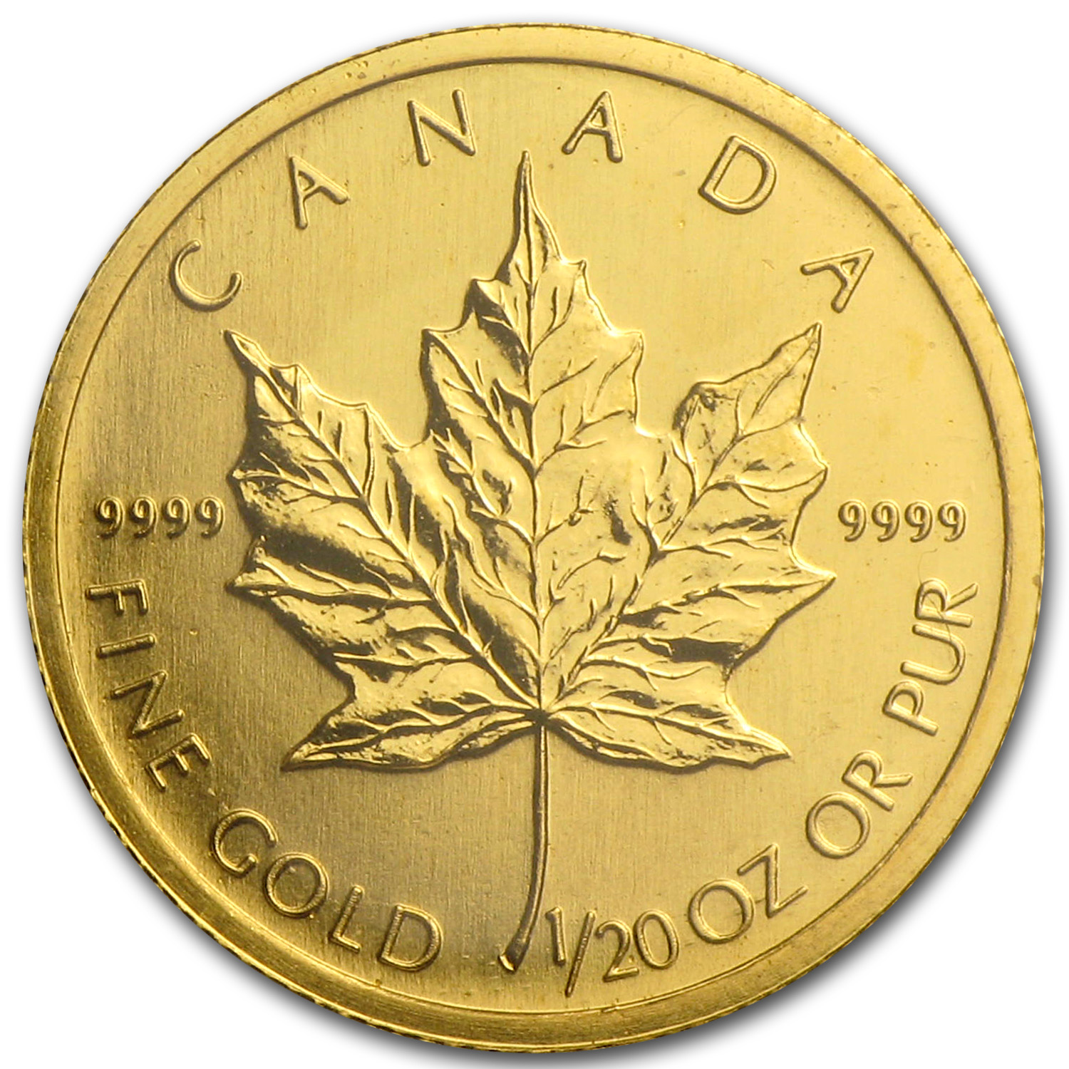 2003 1/20 oz Gold Canadian Maple Leaf
