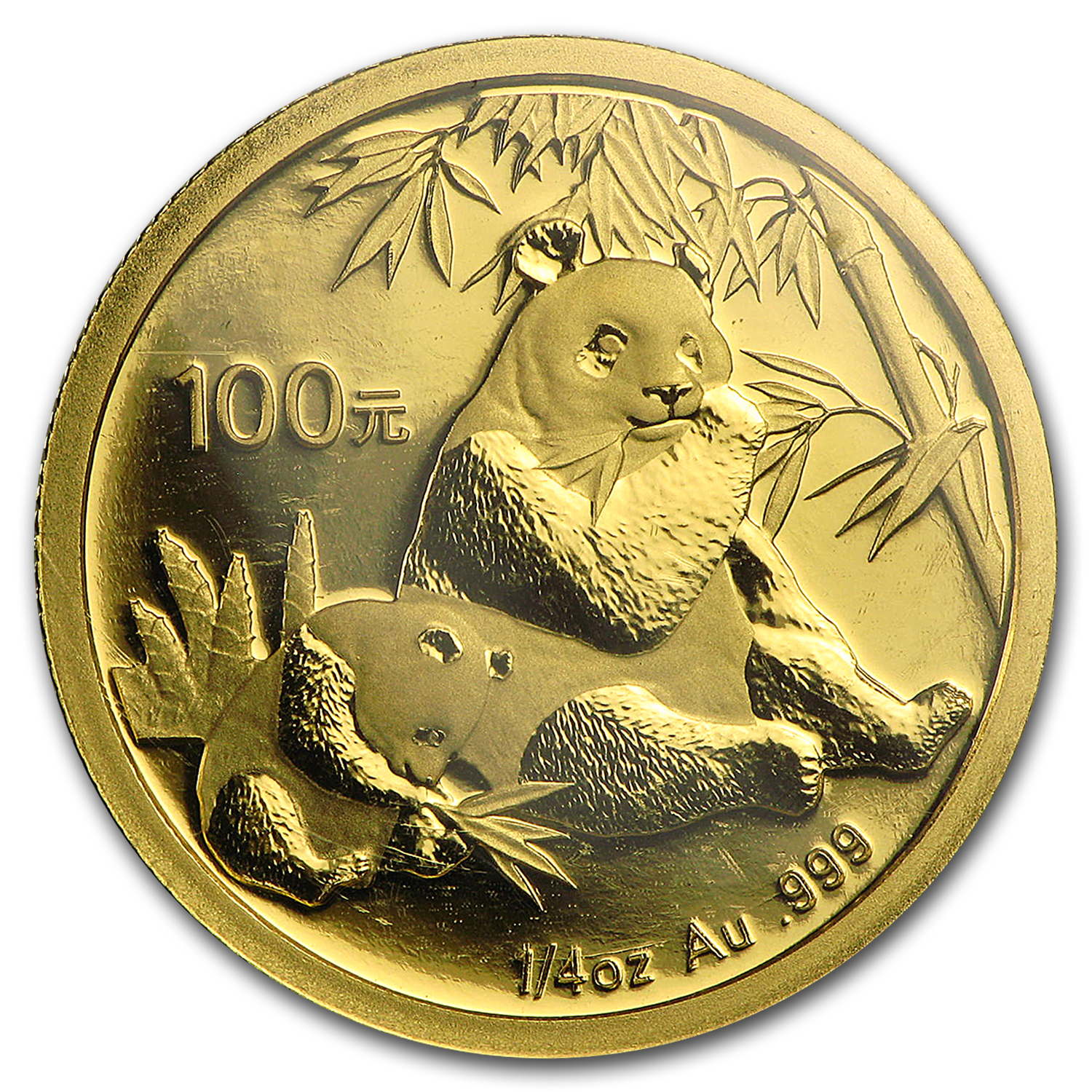 2007 China 1/4 oz Gold Panda BU (Sealed)