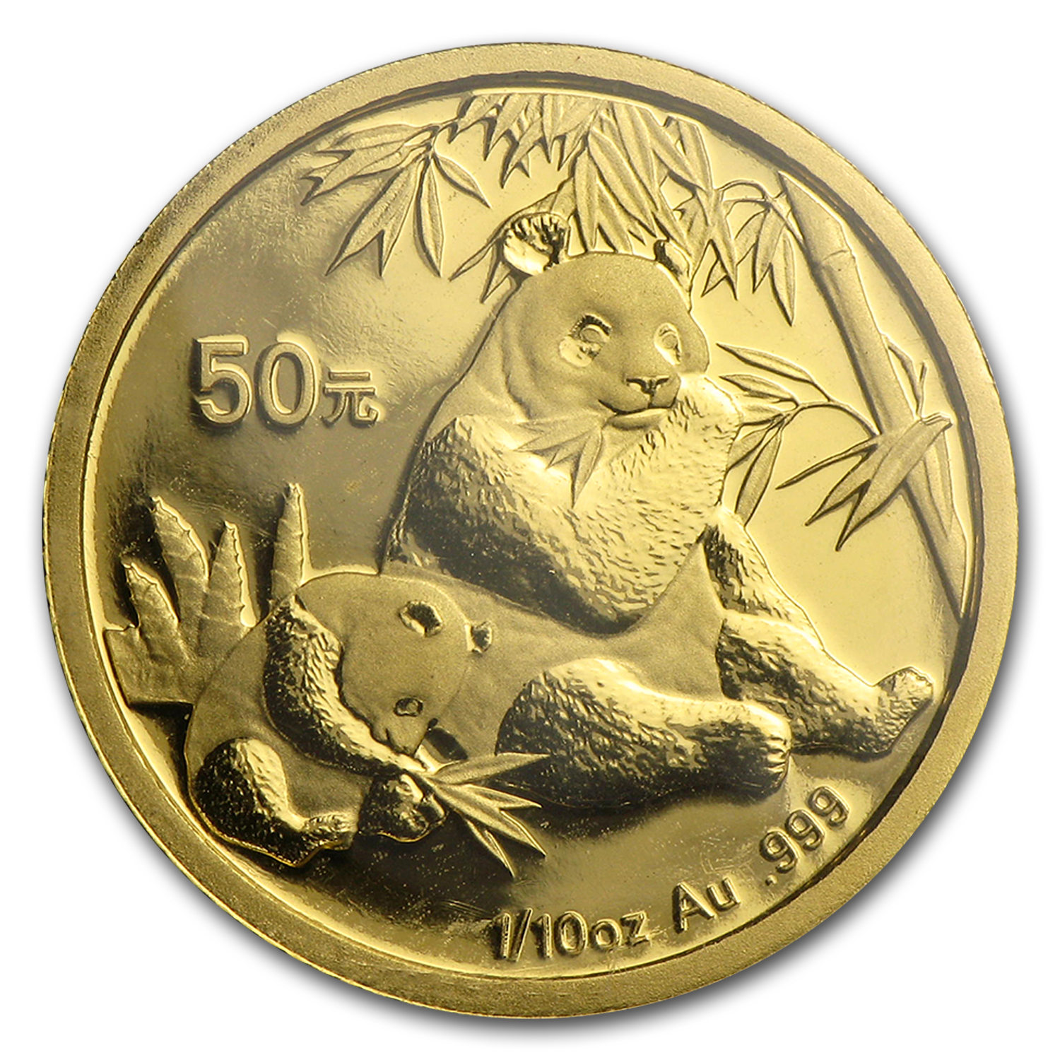 2007 China 1/10 oz Gold Panda BU (Sealed)