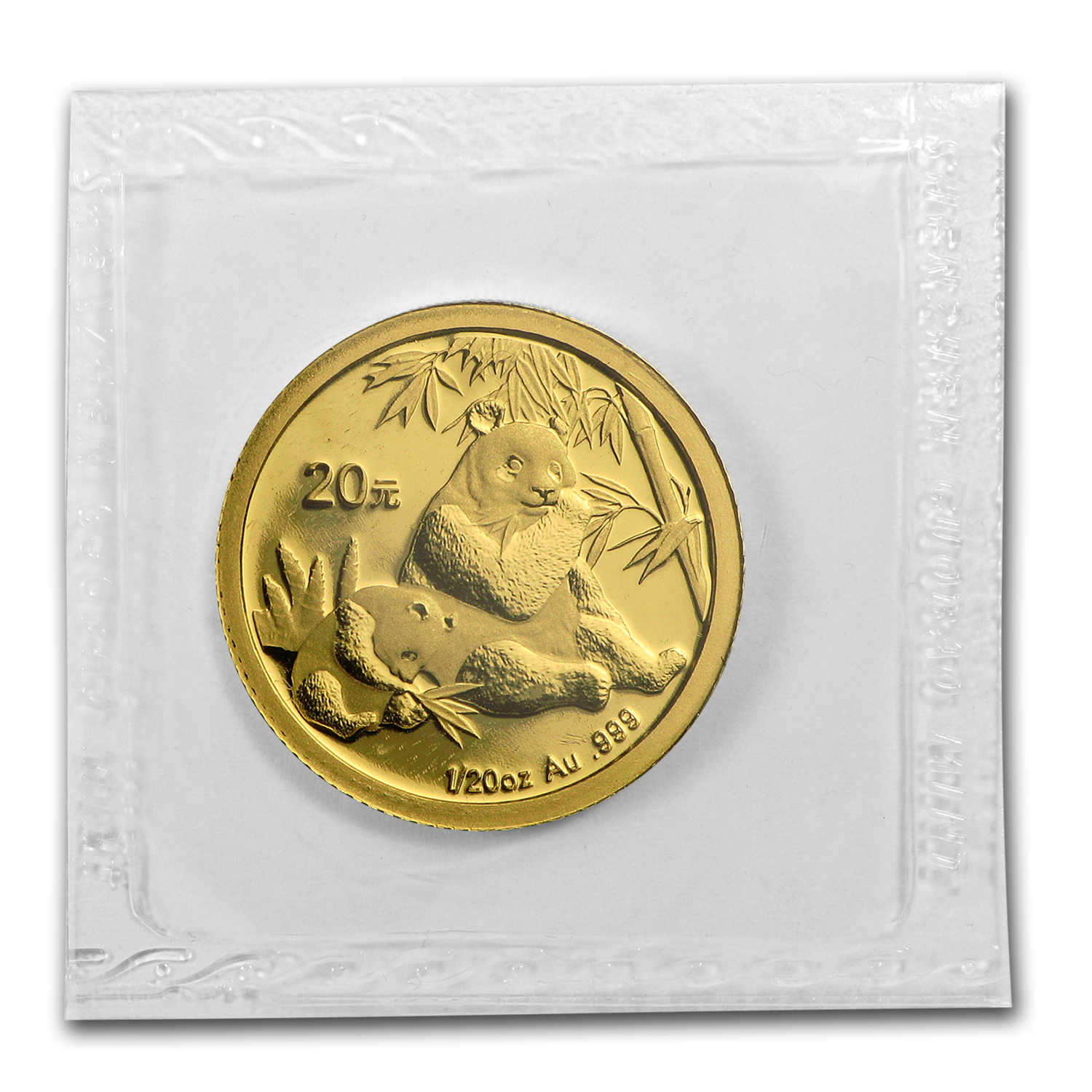 2007 (1/20 oz) Gold Chinese Pandas - (Sealed)