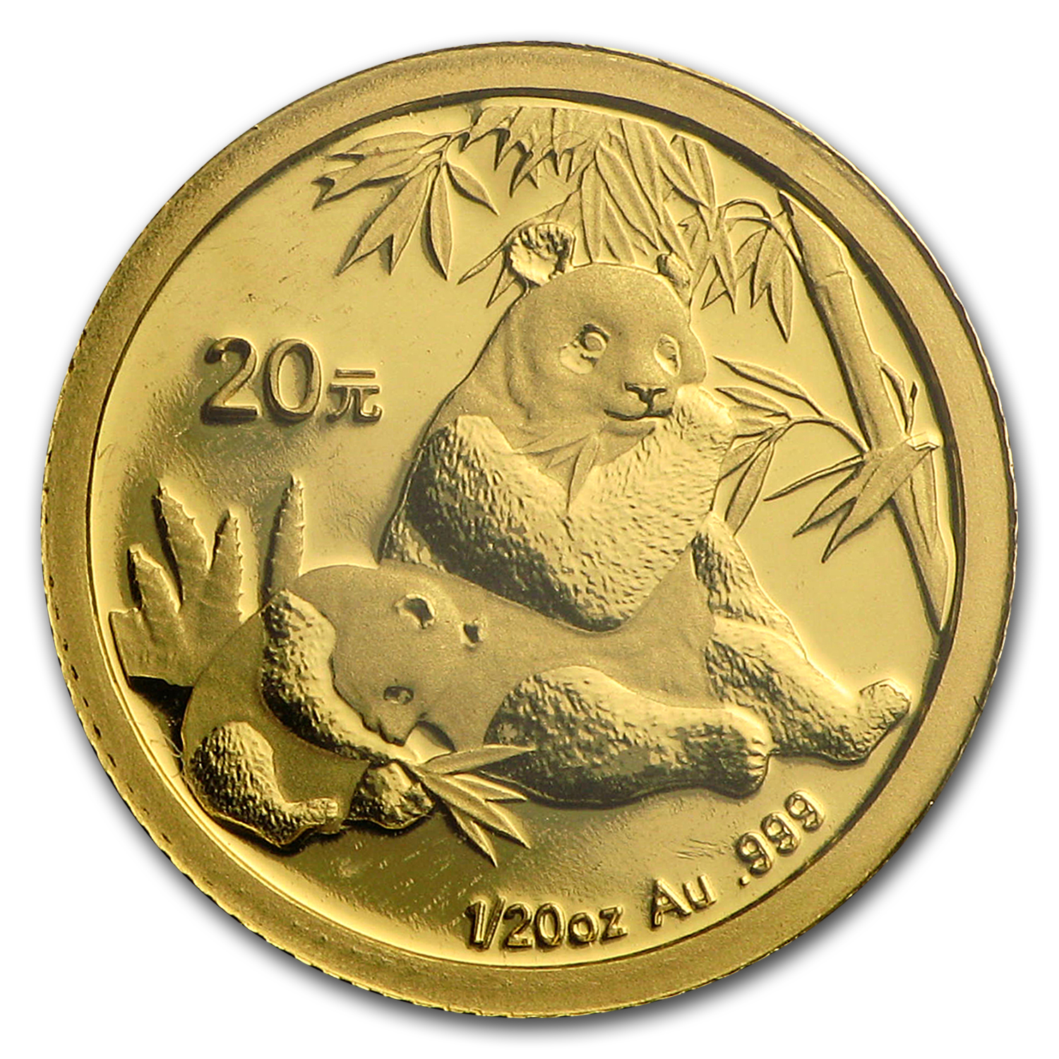 2007 China 1/20 oz Gold Panda BU (Sealed)