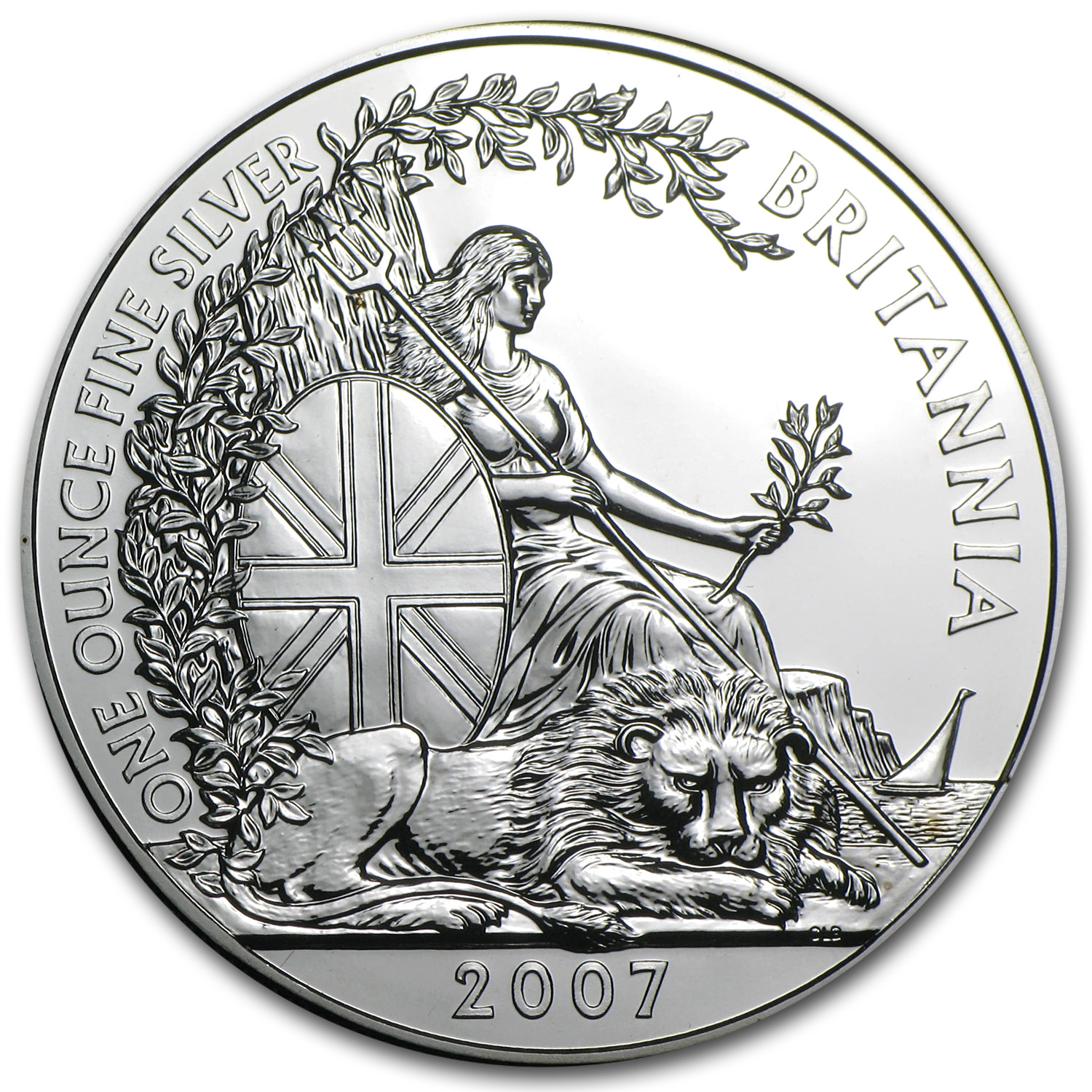 2007 Great Britain 1 oz Silver Britannia BU