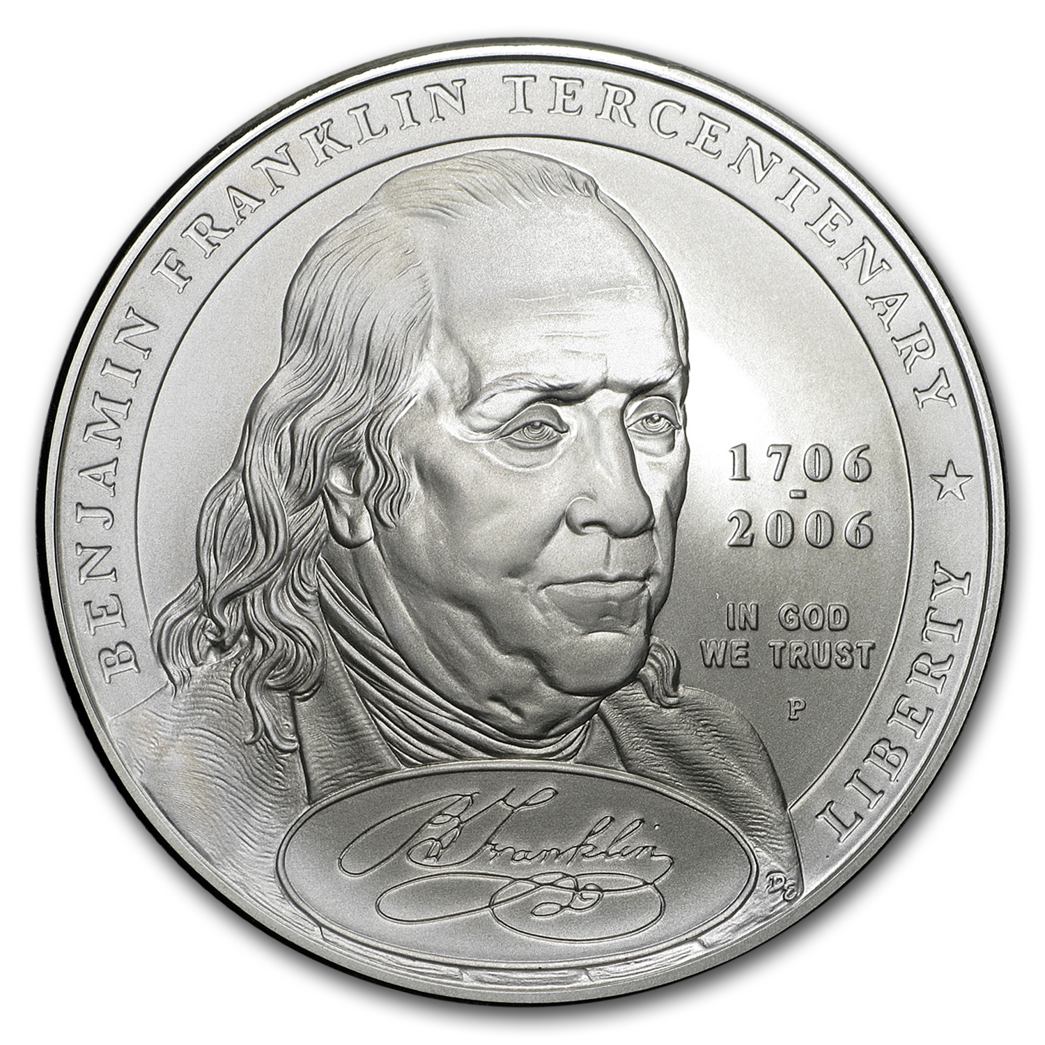 2006-P Ben Franklin Founding Father $1 Silver Commem BU (Box/COA)