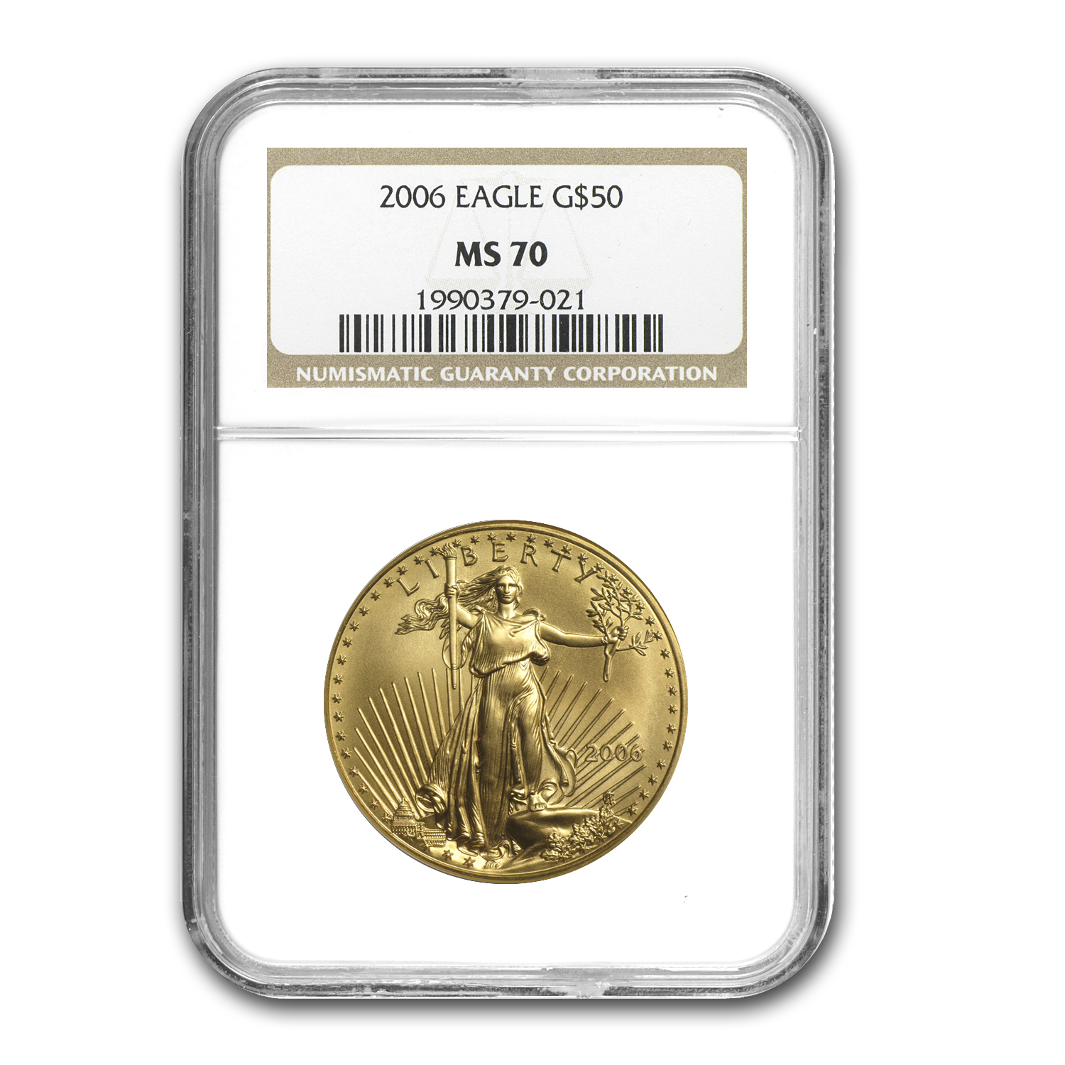 2006 1 oz Gold American Eagle MS-70 NGC