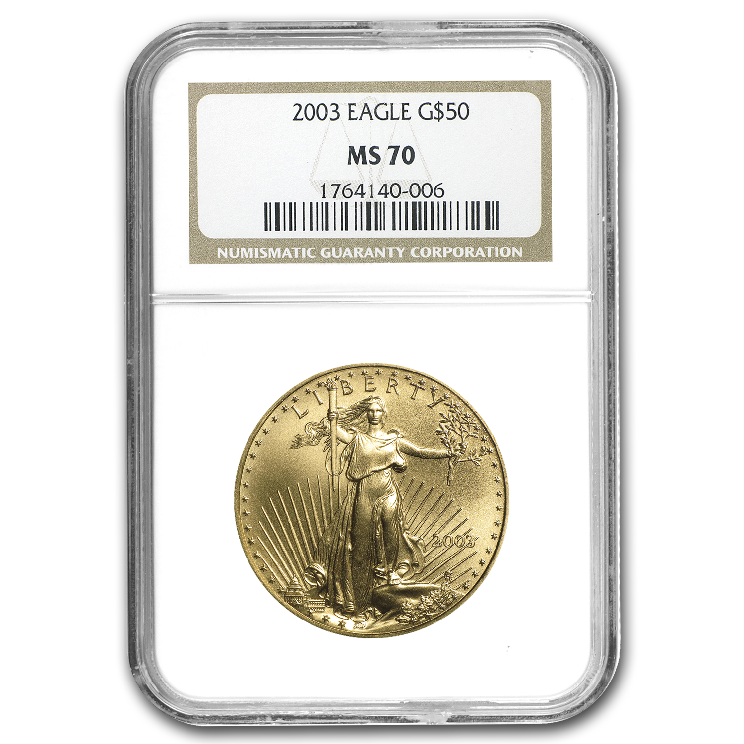 2003 1 oz Gold American Eagle MS-70 NGC