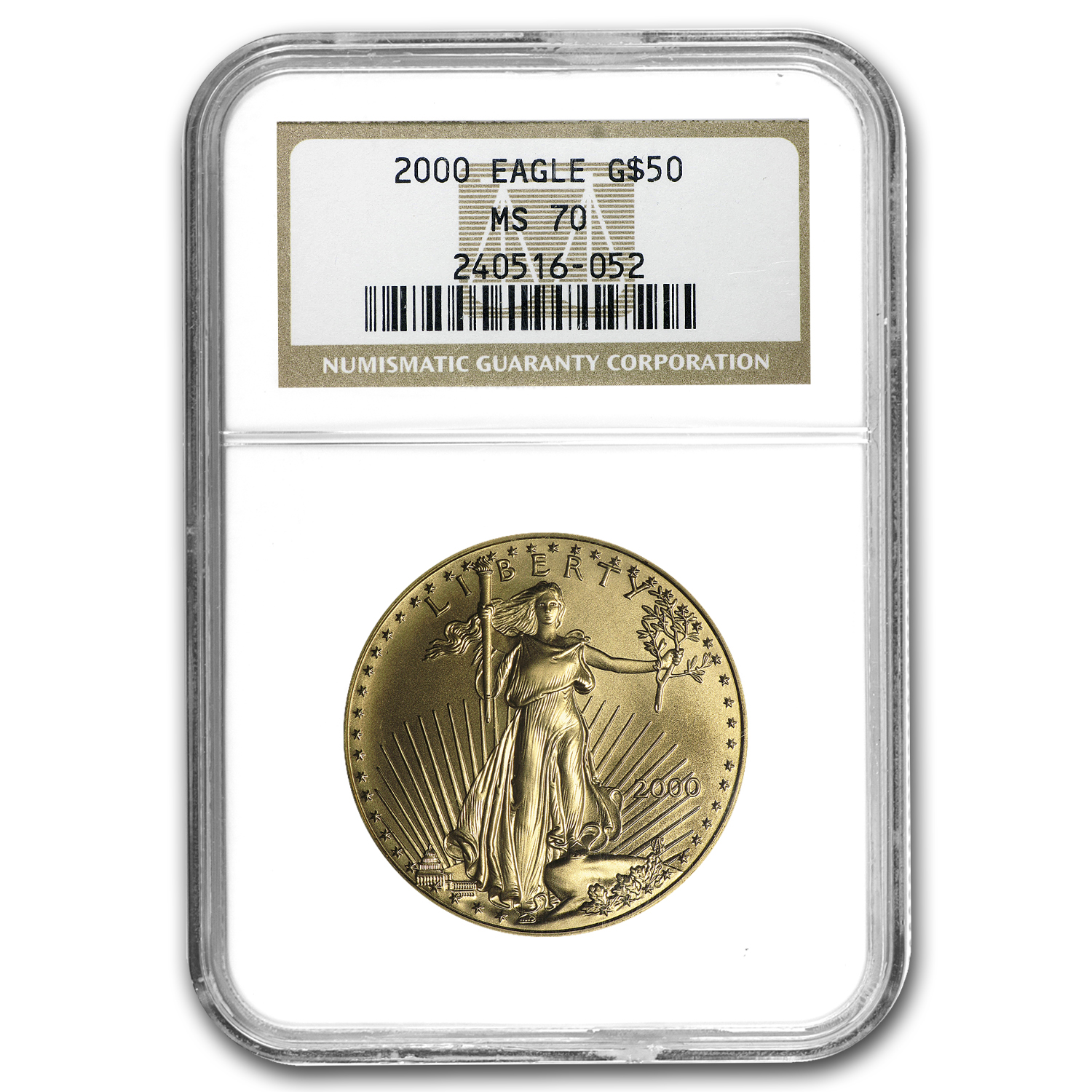 2000 1 oz Gold American Eagle MS-70 NGC