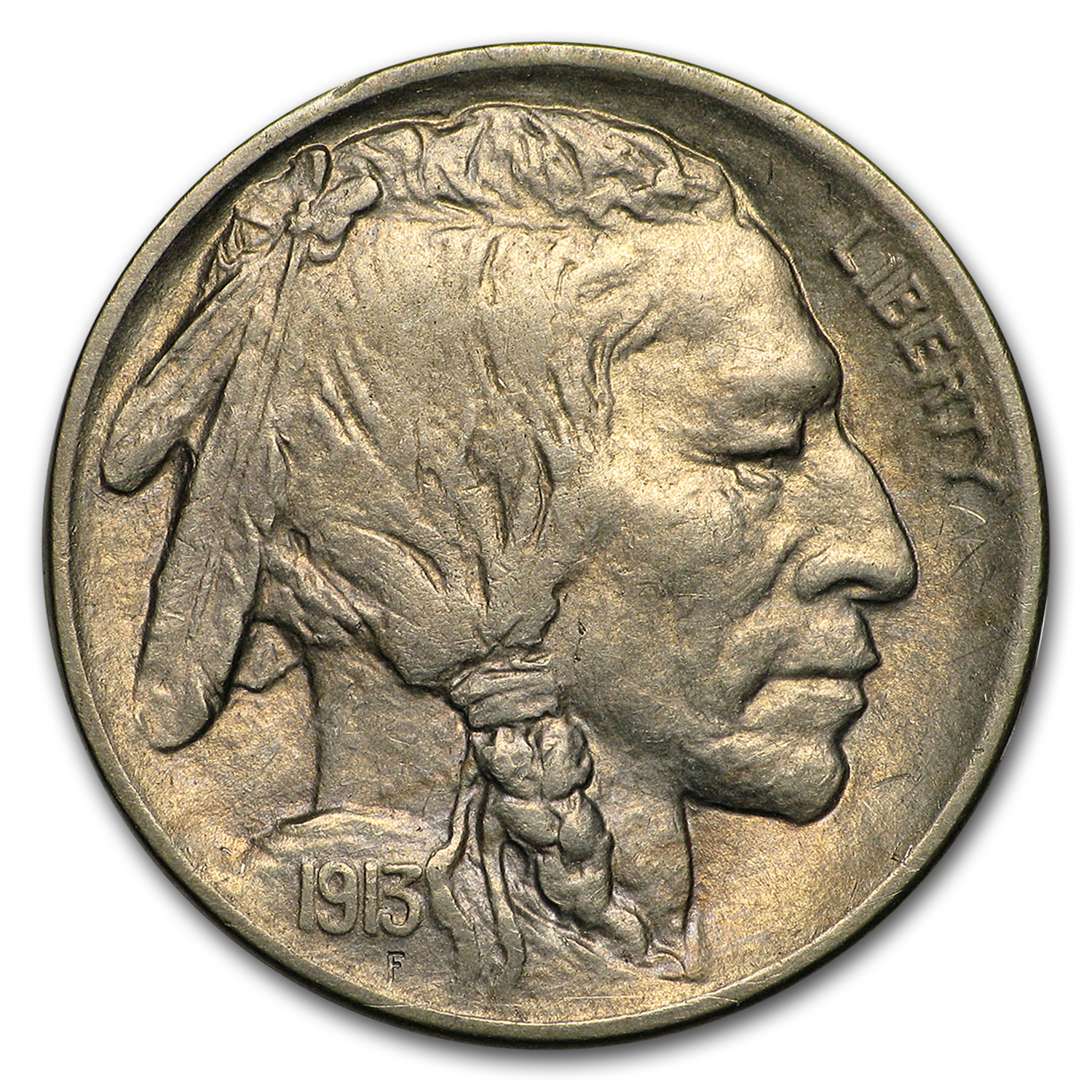 1913-D Type-I Buffalo Nickel AU