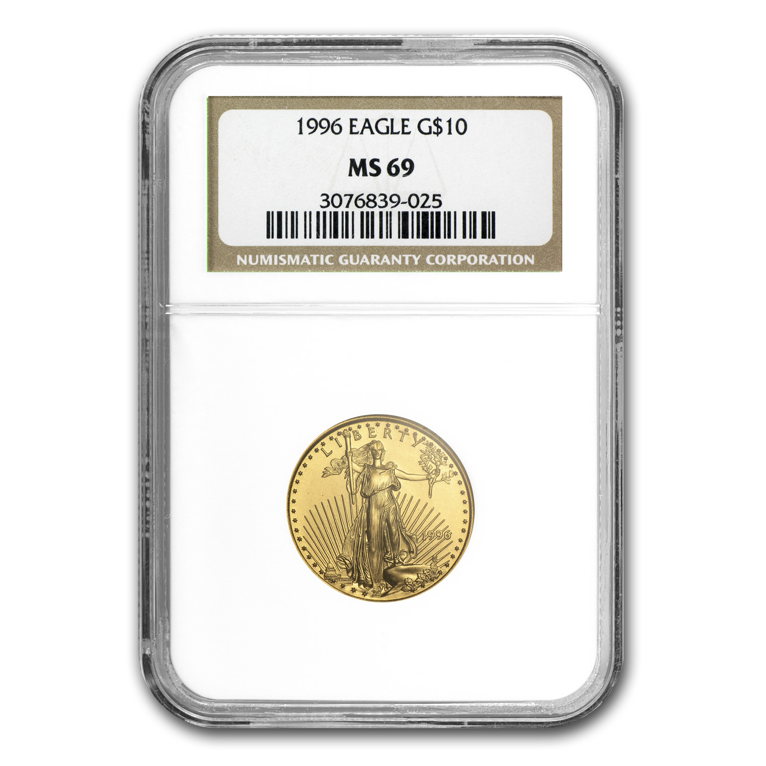 1996 1/4 oz Gold American Eagle MS-69 NGC
