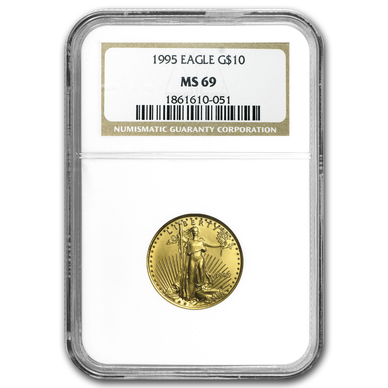 1995 1/4 oz Gold American Eagle MS-69 NGC