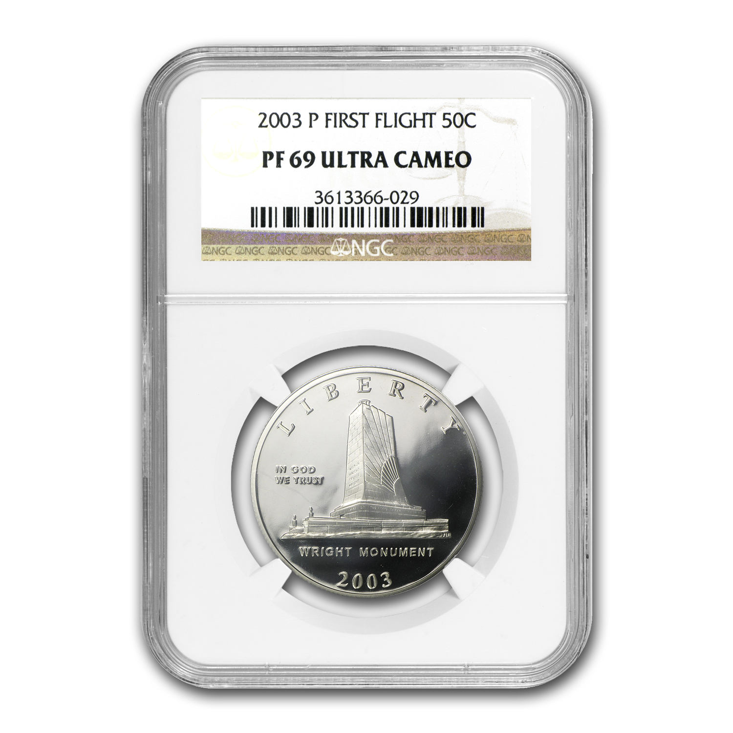 2003-P First Flight Centennial 1/2 Dollar Clad Commem PF-69 NGC