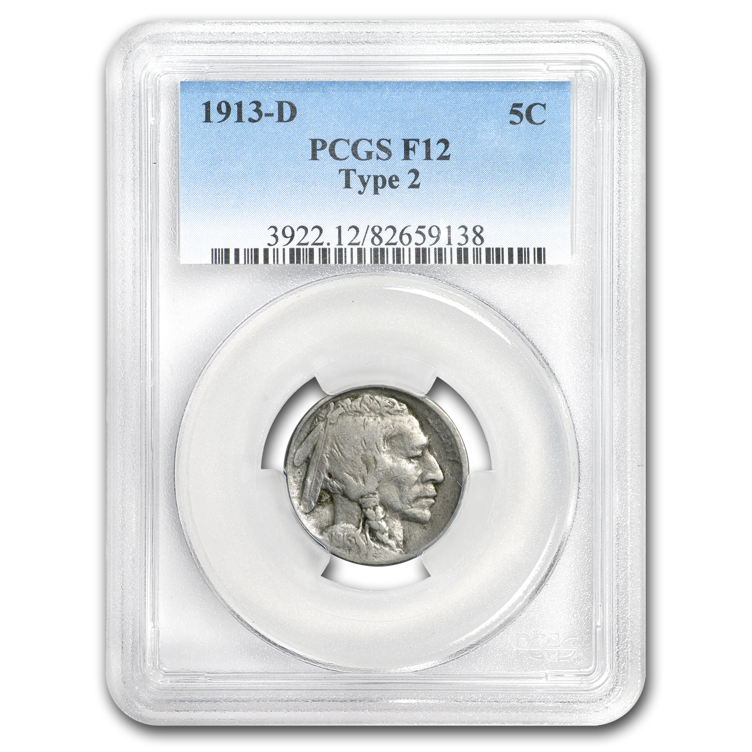 1913-D Type-II Buffalo Nickel Fine