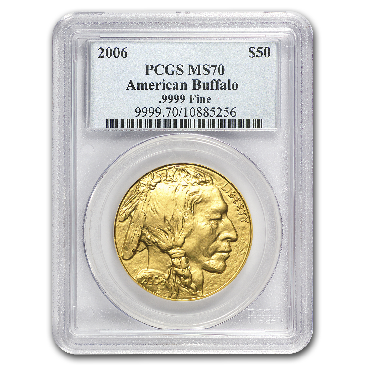 2006 1 oz Gold Buffalo MS-70 PCGS