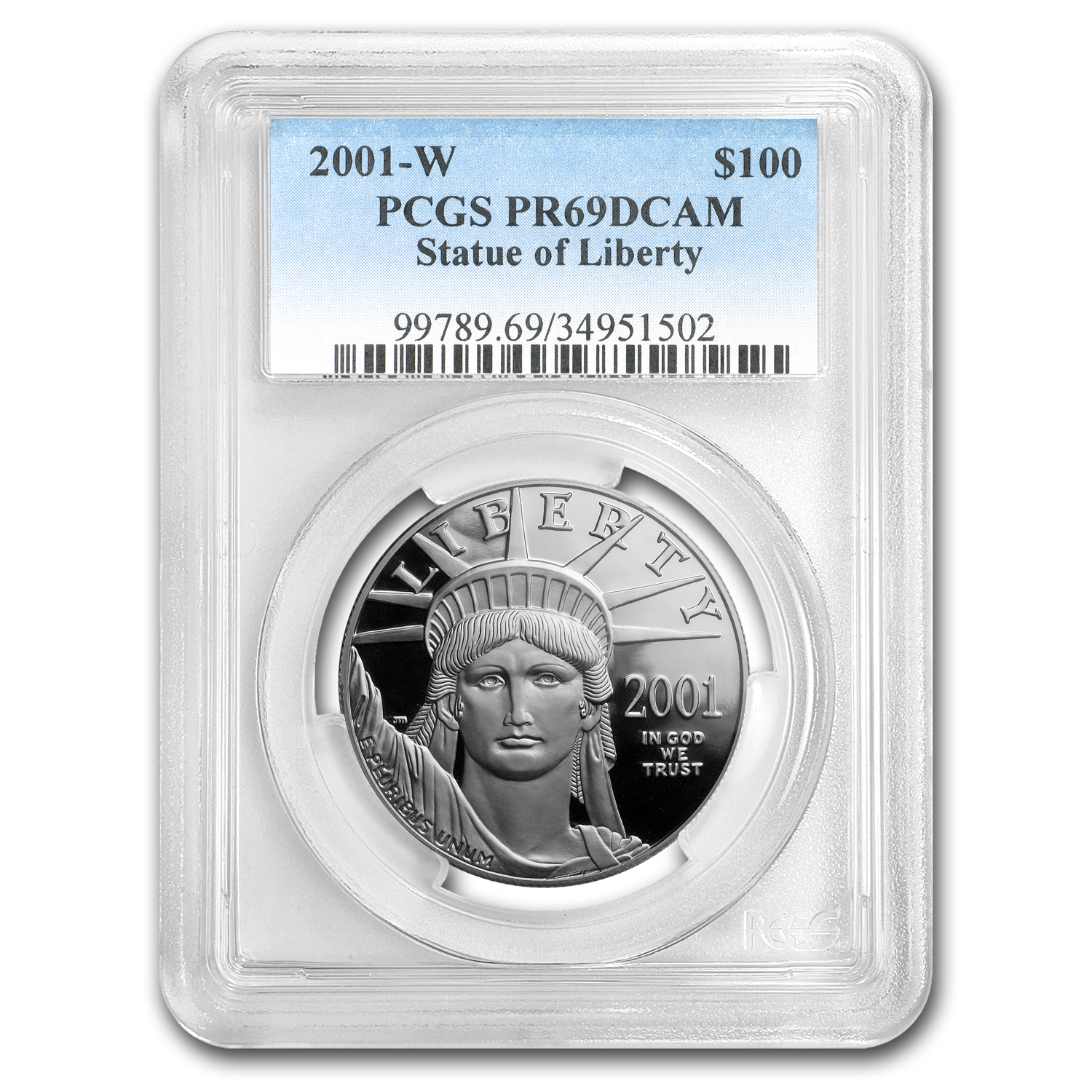 2001-W 1 oz Proof Platinum American Eagle PR-69 PCGS