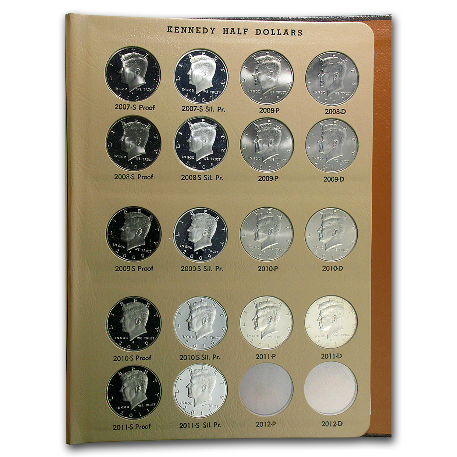 1964 2016 S Kennedy Half Dollar Set Complete In Dansco 178