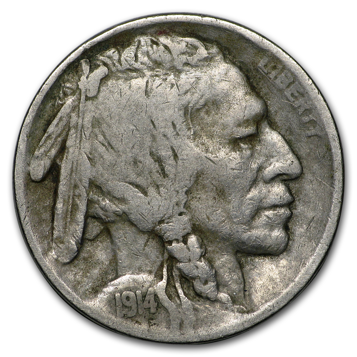 1914 Buffalo Nickel Fine